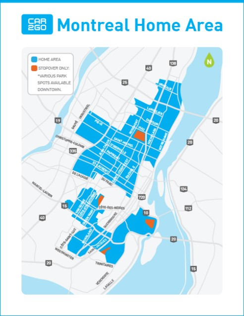 Where To Drive Cargo Montreal - Us designated media area map