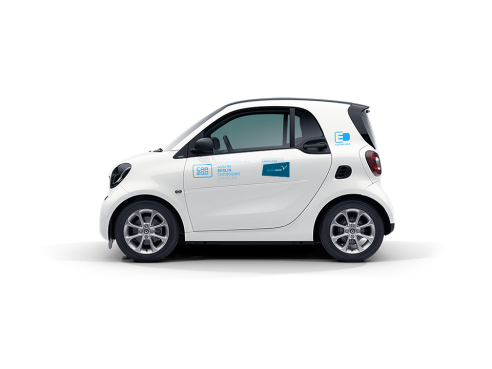 A Smart Fortwo Car2go Carsharing