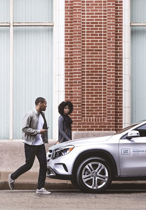 Car2go carsharing for Mercedes benz downtown portland